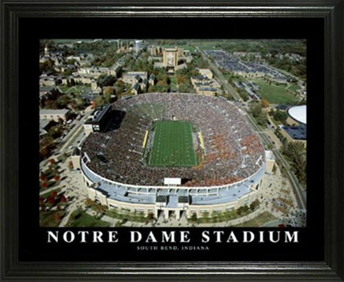 College - Notre Dame Fighting Irish - Notre Dame Stadium Aerial - Lg - Framed Picture
