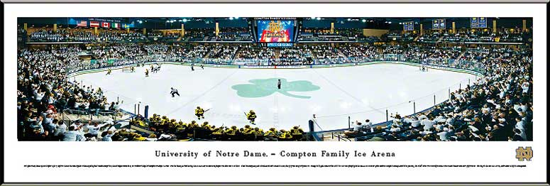 College - Notre Dame Fighting Irish - Compton Family Ice Arena - White Out - Framed Picture