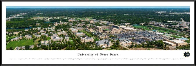 52268915a65 Details & Buy · College - Notre Dame Fighting Irish - University of Notre  Dame Aerial - Framed Picture