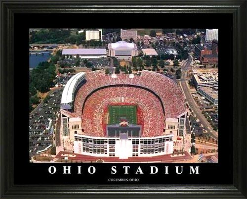 College - Ohio State Buckeyes - Ohio Stadium Aerial - Lg - Framed Picture