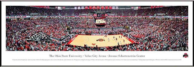 College - Ohio State Buckeyes - Value City Arena - Schottenstein Center - Framed Picture