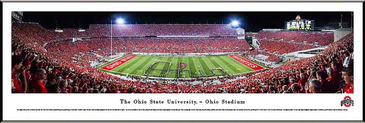 College - Ohio State Buckeyes - Script Ohio at Night - TBDBITL - Framed Picture