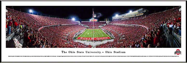 College - Ohio State Buckeyes - Scarlet Out the Shoe - Framed Picture