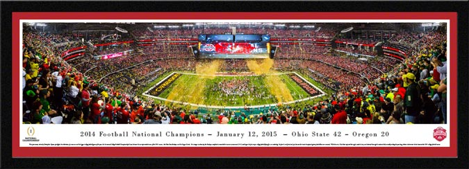 College - Ohio State Buckeyes - 2014 Football National Champions - Framed Picture