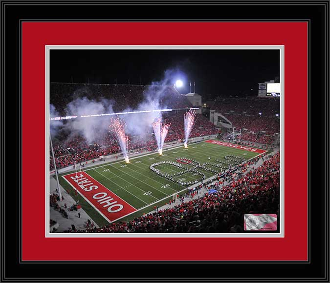 College - Ohio State Buckeyes - Script Ohio - 75th Anniversary - 2011 - Framed Picture