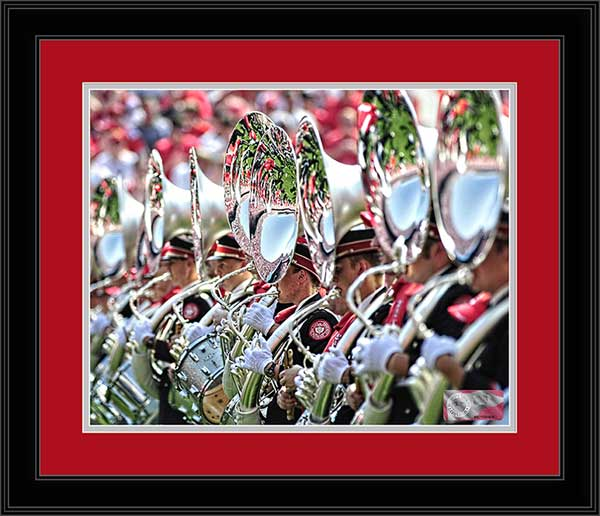 College - Ohio State Buckeyes - Marching Band - TBDBITL Tuba Line - Framed Picture
