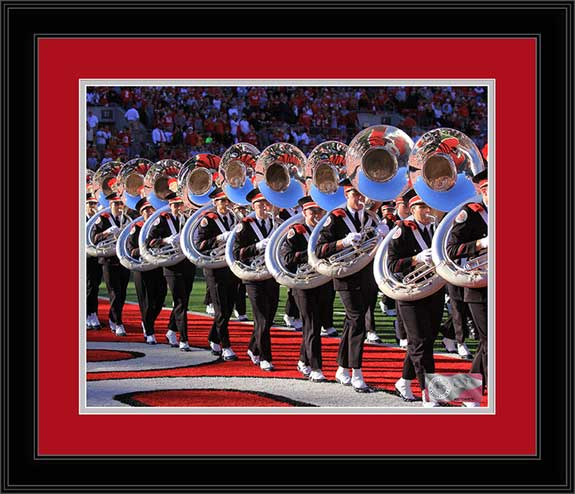College - Ohio State Buckeyes - Marching Band - TBDBITL Tuba March - Framed Picture
