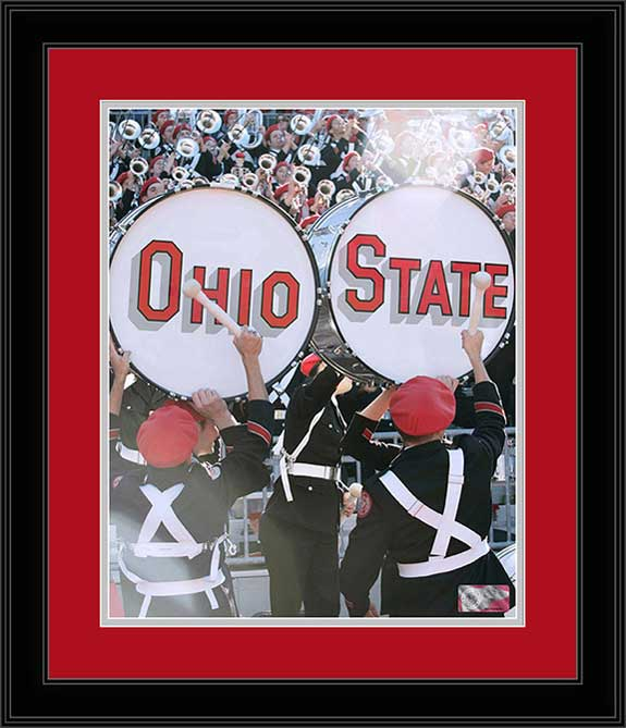 College - Ohio State Buckeyes - Marching Band - Ohio State Drums - Framed Picture