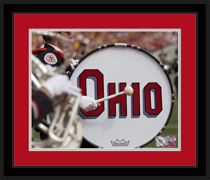 College - Ohio State Buckeyes - Marching Band - Ohio Drum - Framed Picture