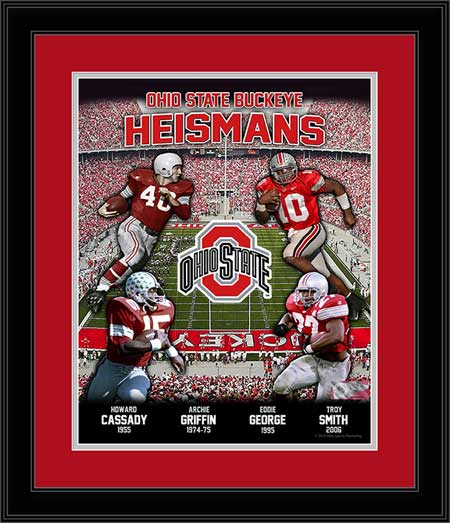 College - Ohio State Buckeyes - Heisman Trophy Winners - Four - Framed Picture