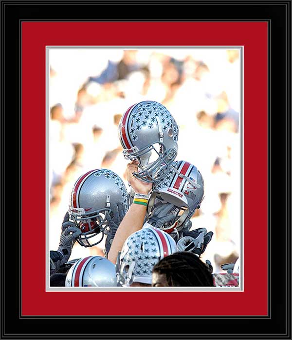 College - Ohio State Buckeyes - Helmets II - Winning Celebration - Framed Picture