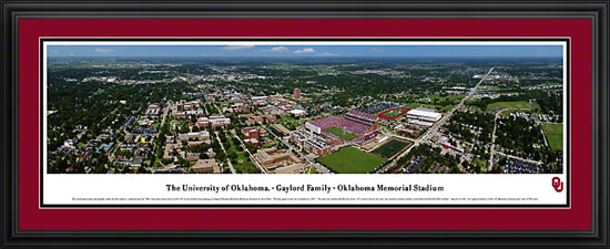 College - Oklahoma Sooners - Gaylord Family OU Memorial Stadium - Framed Picture