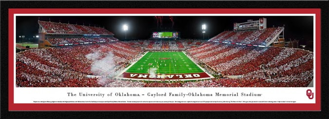 College - Oklahoma Sooners - Gaylord Family-Oklahoma Memorial Stadium - Framed Picture