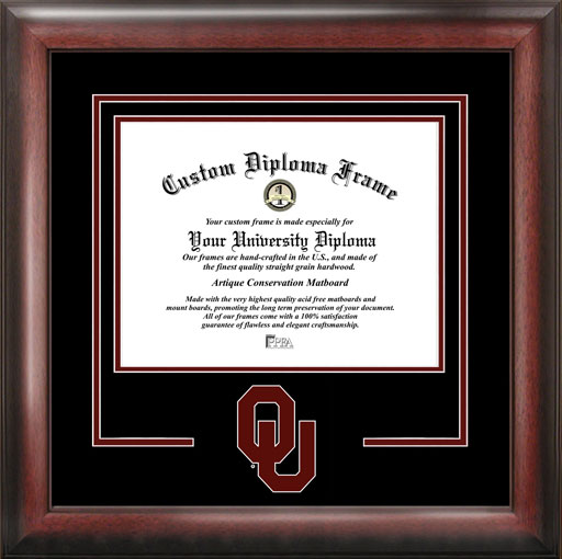 College - University of Oklahoma Sooners - College Logo - Spirit Mat Cutout - Diploma Frame