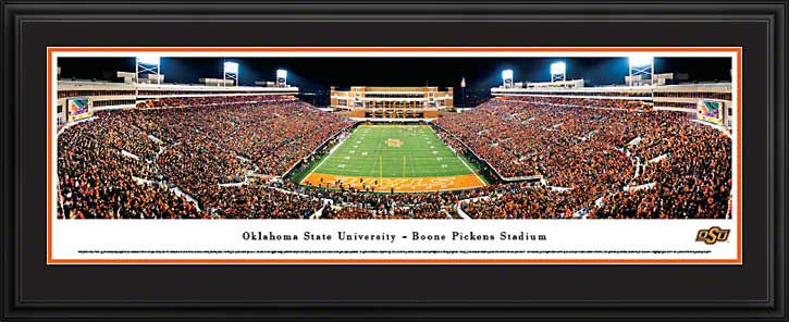 College - Oklahoma State Cowboys - Boone Pickens Stadium - End Zone - Framed Picture