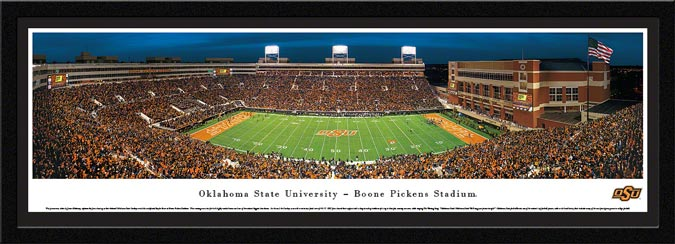 College - Oklahoma State Cowboys - Boone Pickens Stadium - Framed Picture
