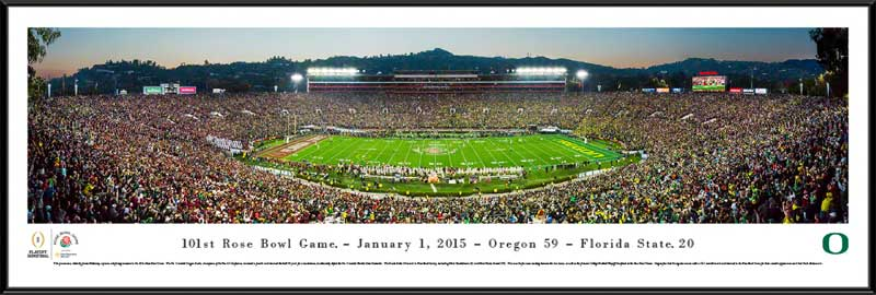 College - Oregon Ducks - 2015 Rose Bowl Champions - Framed Picture
