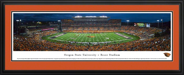 College - Oregon State Beavers - Reser Stadium - Framed Picture