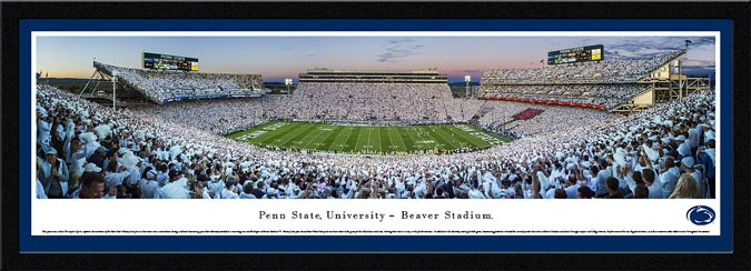 College - Pennsylvania State Nittany Lions - Beaver Stadium - White Out 2013 - Framed Picture