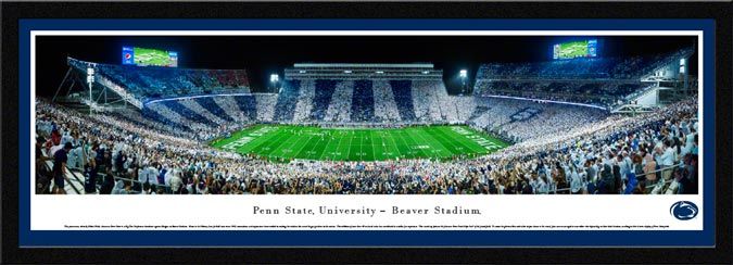 College - Pennsylvania State Nittany Lions - Beaver Stadium - Penn State Stripe Out - Framed Picture