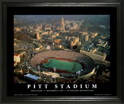 College - Pittsburgh Panthers - Pitt Stadium Aerial - Lg - Framed Picture
