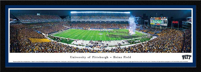 College - Pittsburgh Panthers - Heinz Field - Dusk - Framed Picture
