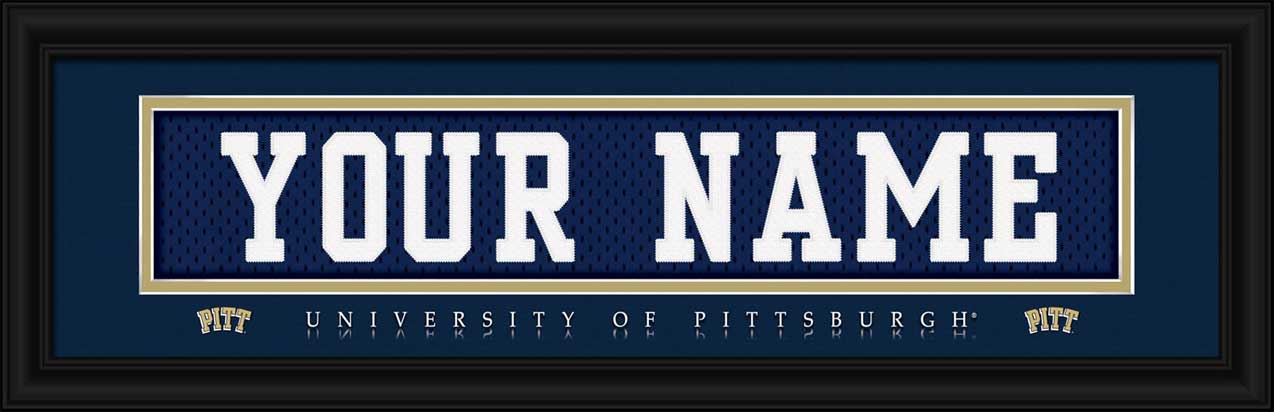 College - Pittsburgh Panthers - Personalized Jersey Nameplate - Framed Picture