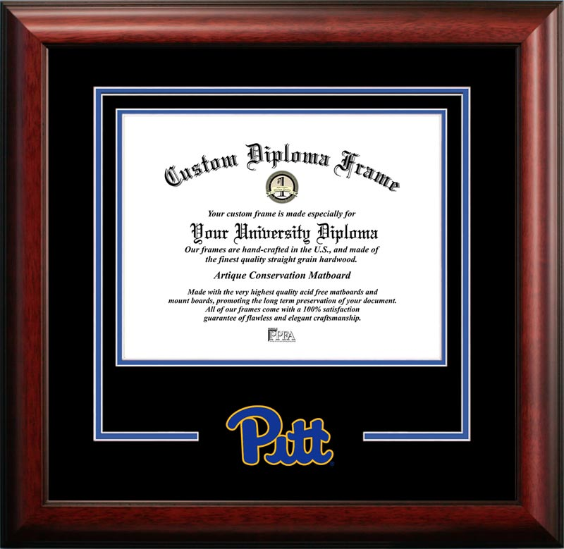 College - University of Pittsburgh Panthers - College Logo - Spirit Mat Cutout - Diploma Frame
