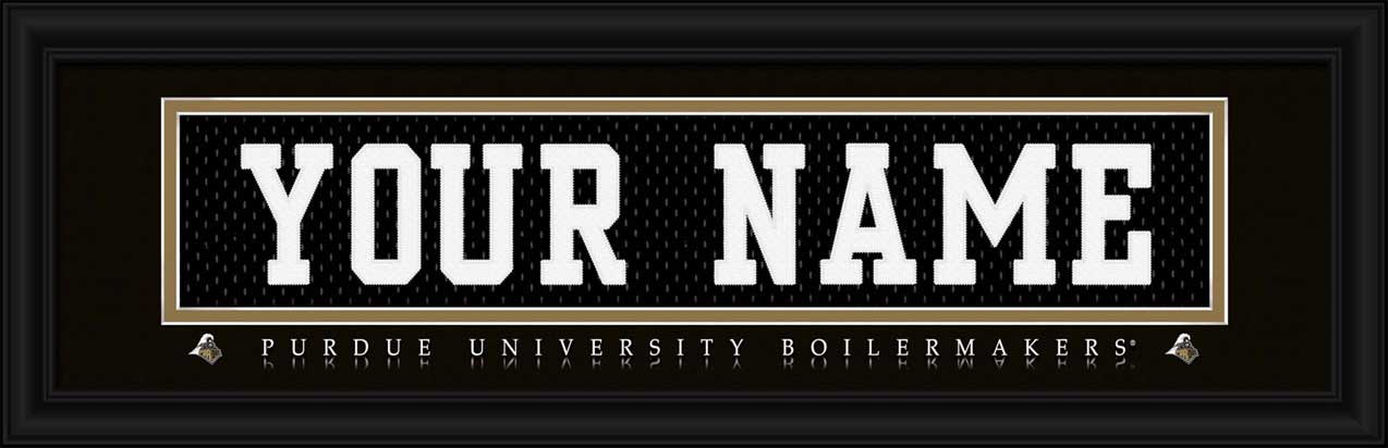 College - Purdue Boilermakers - Personalized Jersey Nameplate - Framed Picture