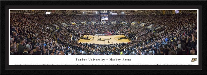 College - Purdue Boilermakers - Mackey Arena - Blackout - Framed Picture