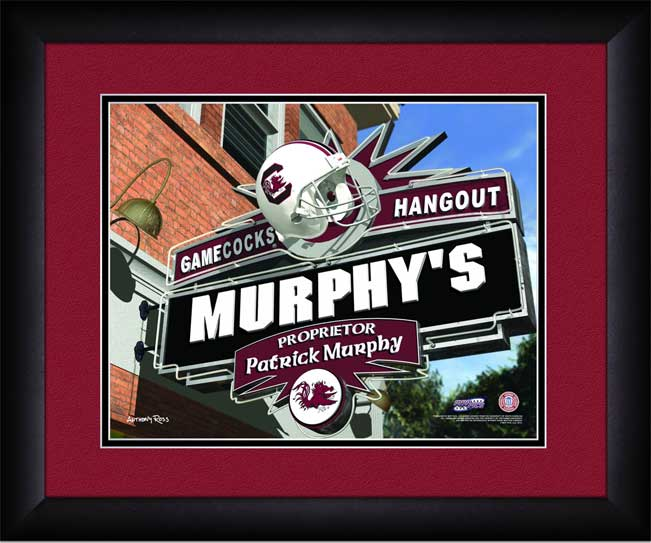 College - South Carolina Gamecocks - Personalized Hangout Sign - Framed Picture