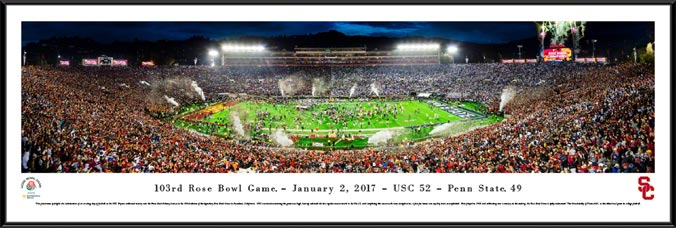 College - Southern California Trojans - 2017 Rose Bowl Champions - Framed Picture