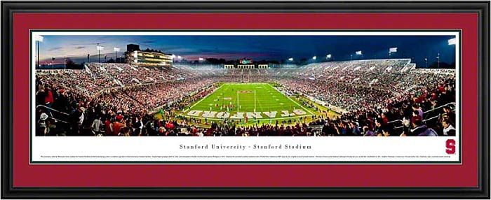 College - Stanford Cardinal - Stanford Stadium - End Zone - Framed Picture