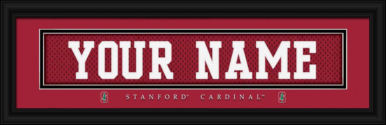 College - Stanford Cardinal - Personalized Jersey Nameplate - Framed Picture