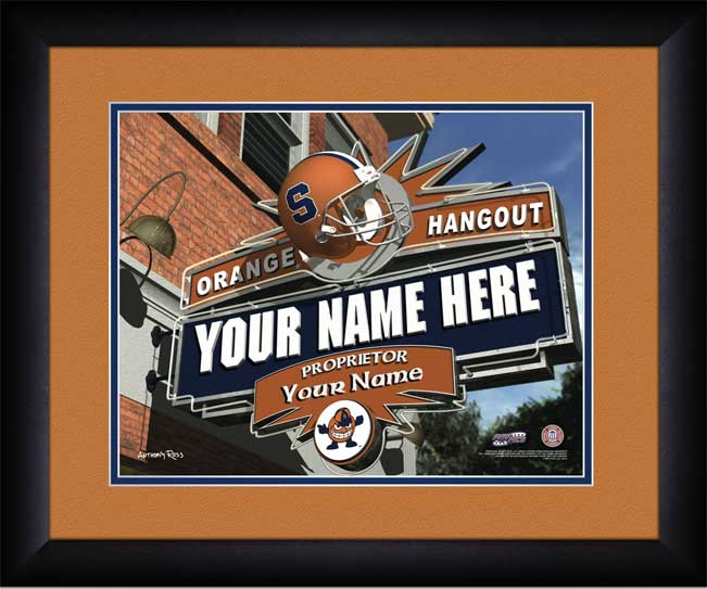 College - Syracuse Orange - Personalized Hangout Sign - Framed Picture