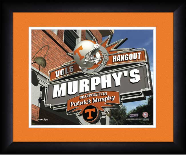 College - Tennessee Volunteers - Personalized Hangout Sign - Framed Picture