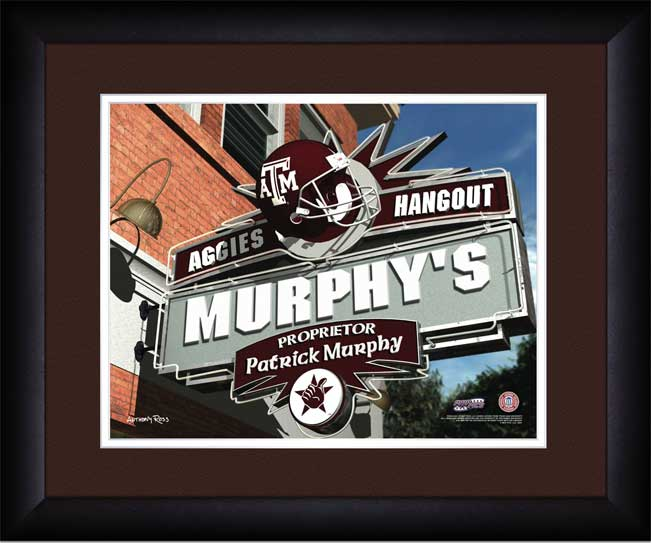 College - Texas A&M Aggies - Personalized Hangout Sign - Framed Picture