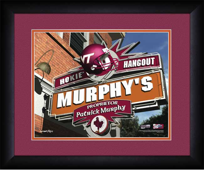 College - Virginia Tech Hokies - Personalized Hangout Sign - Framed Picture