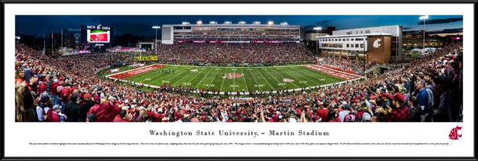 College - Washington State Cougars - Martin Stadium 2016 - Framed Picture