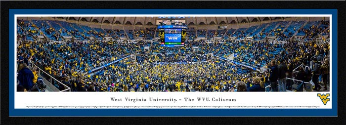 College - West Virginia Mountaineers - WVU Coliseum - Celebration - Framed Picture