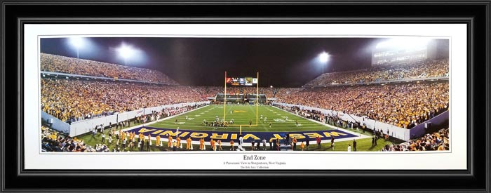 College - West Virginia Mountaineers - End Zone - Framed Picture