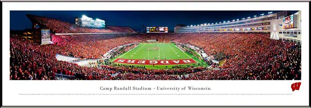 College - Wisconsin Badgers - Camp Randall Stadium - End Zone - Framed Picture