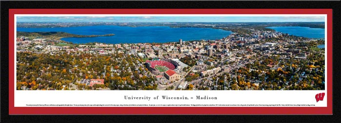 College - Wisconsin Badgers - Madison Campus and Camp Randall - Framed Picture