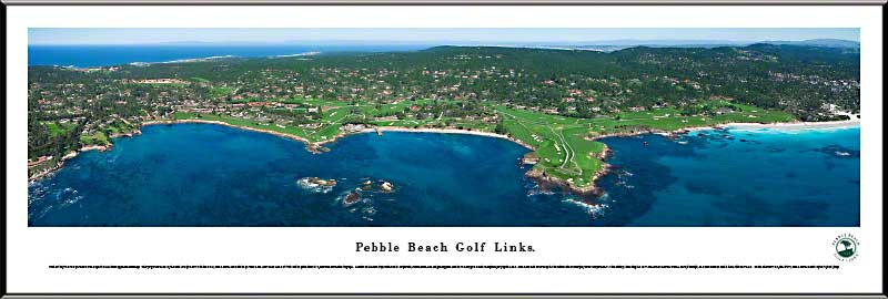 Golf - Golf Courses - Pebble Beach Golf Links - Framed Picture