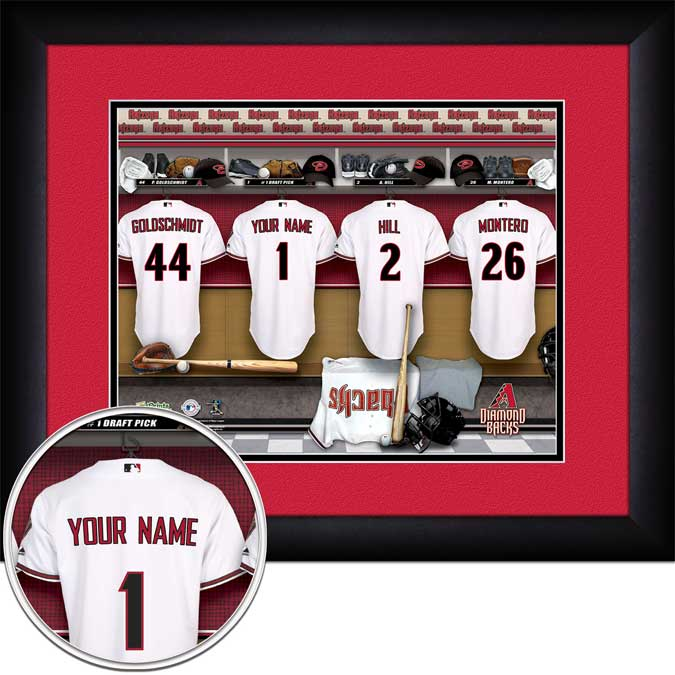 MLB - Arizona Diamondbacks - Personalized Locker Room - Framed Picture