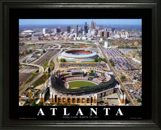 MLB - Atlanta Braves - Turner Field Aerial - Lg - Framed Picture