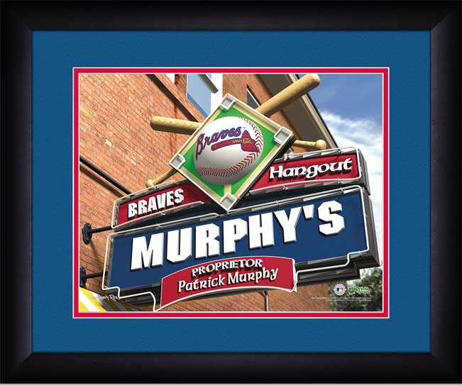 MLB - Atlanta Braves - Personalized Hangout Sign - Framed Picture