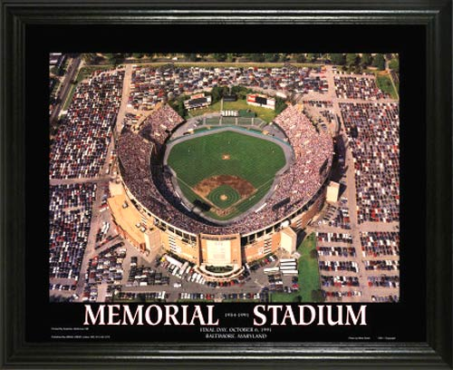 MLB - Baltimore Orioles - Memorial Stadium Aerial - Lg - Framed Picture
