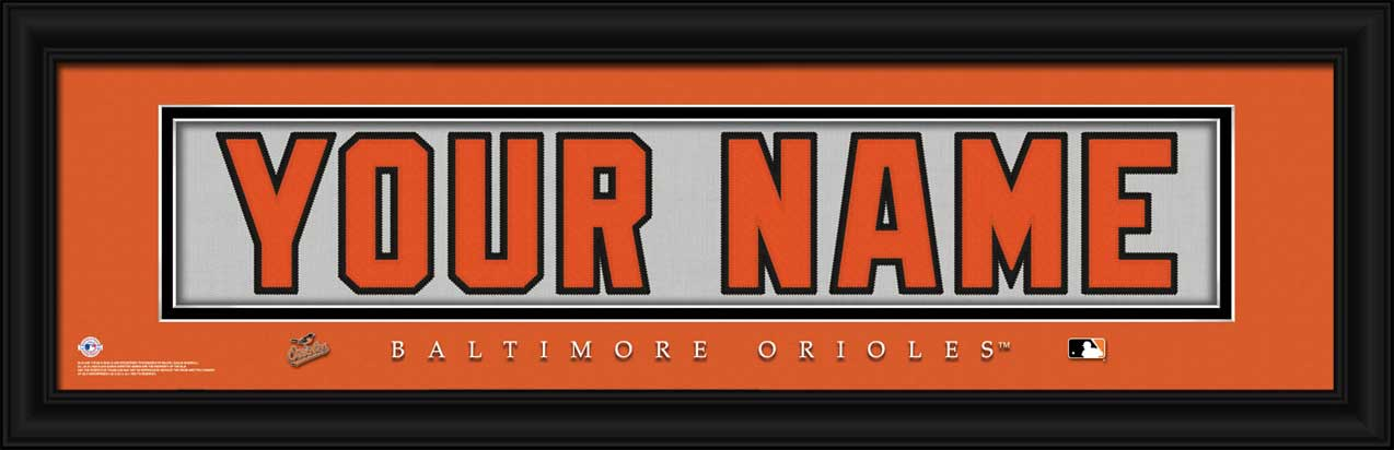 MLB - Baltimore Orioles - Personalized Jersey Nameplate - Framed Picture