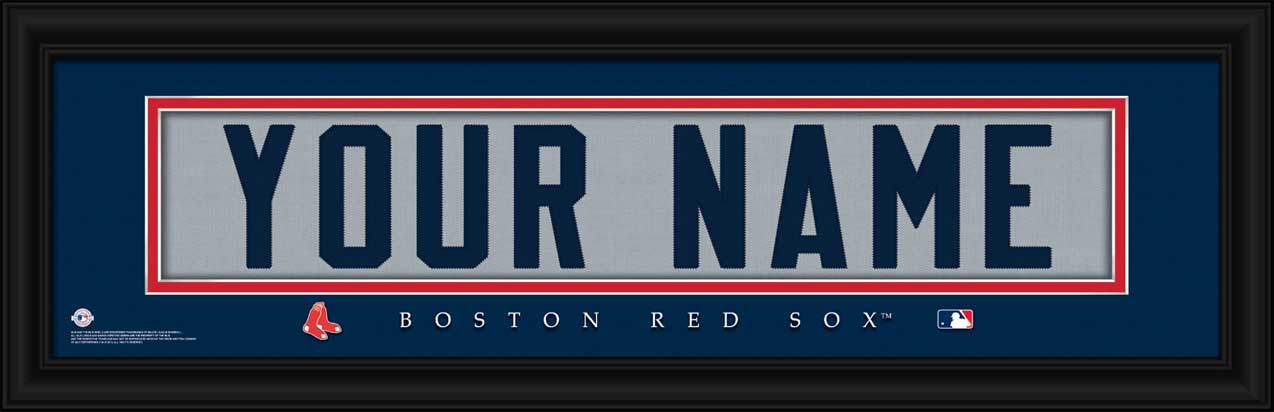 MLB - Boston Red Sox - Personalized Jersey Nameplate - Framed Picture